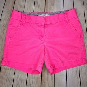 J. Crew Broken-In Chino pink shorts Size 4